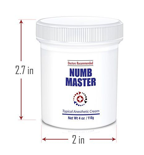 Numb Master 5% Topical Anesthetic Lidocaine Cream, Made in USA, Fast Penetration, Liposomal Lidocaine, Non-oily (4 oz) //Price: $58.89 & FREE Shipping //