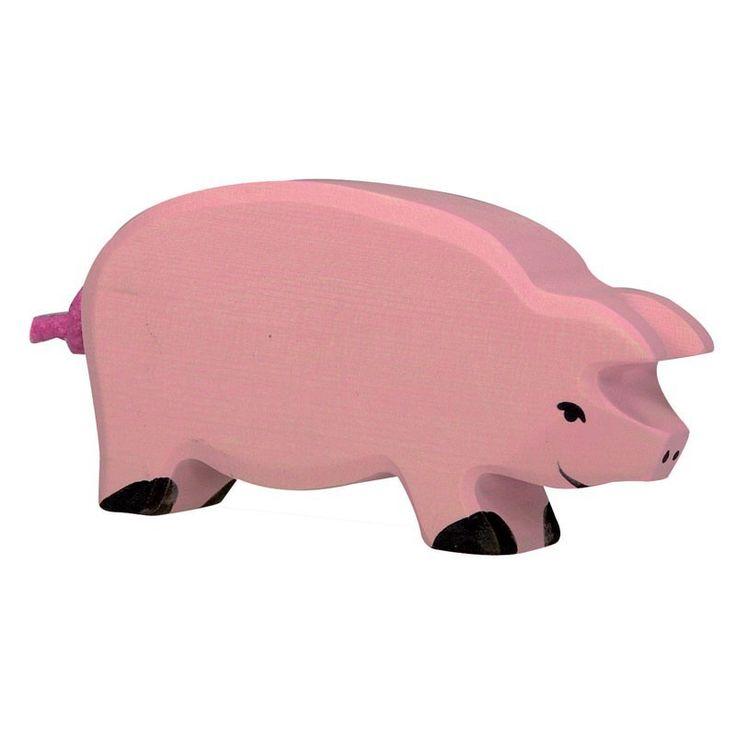 Wooden Pig Holztiger Toy | Worldwide shipping www.minizoo.com.au