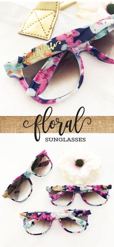 Bachelorette Party Sunglasses | Bachelorette Party Weekend Ideas | Floral Bridal Shower Ideas | Bride Tribe Sunglasses Bridesmaid Gifts