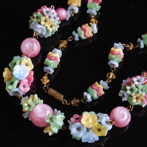 Shall afford vintage glass flower beads