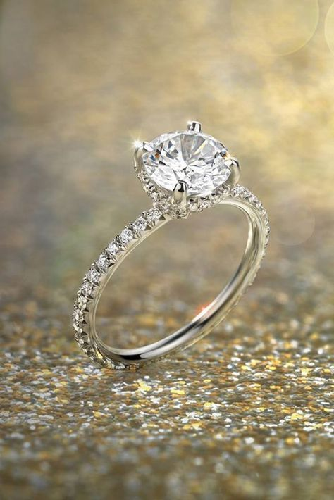 Blue Nile Engagement Rings, Harmony In The Settings ❤ See more: http://www.weddingforward.com/blue-nile-engagement-rings/ #weddings #weddingrings