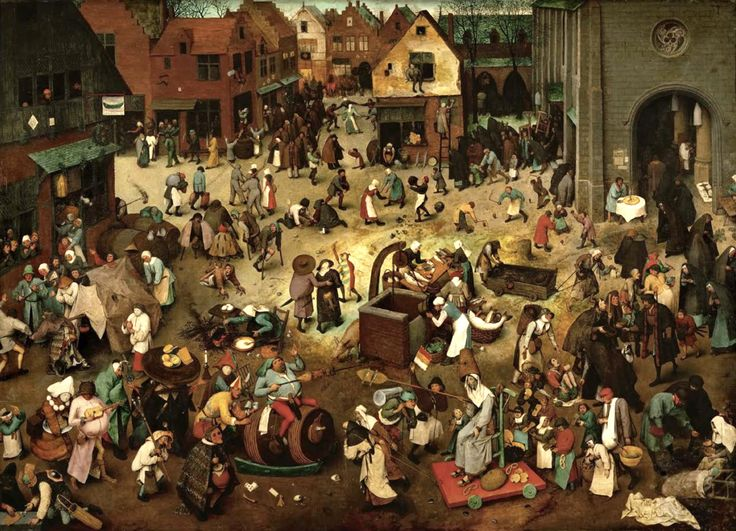 The Fight Between Carnival and Lent (1559) by Pieter Bruegel the Elder