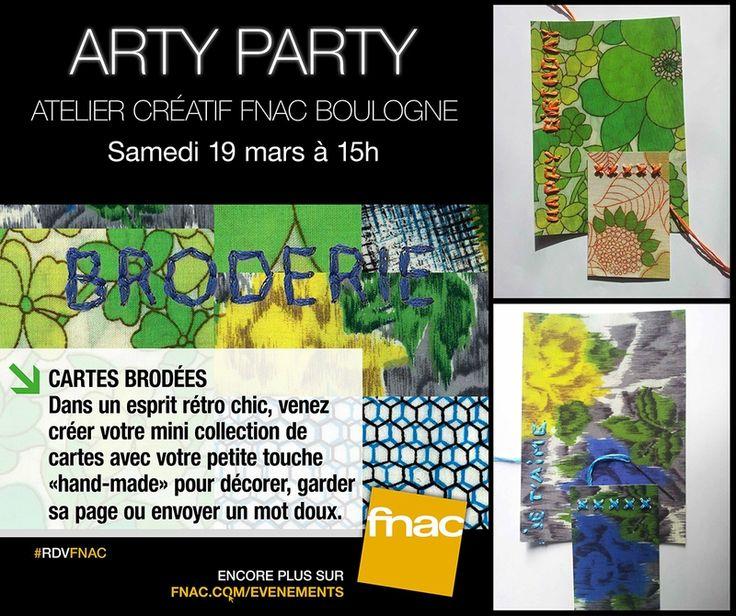 ARTY PARTY à la FNAC de Boulogne Samedi 19 Mars 2016