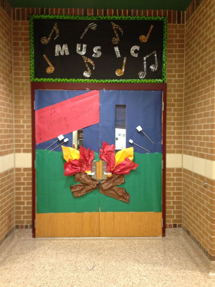 Ordinary Vbs Camping Theme Decorating Ideas Part - 11: Door Decor For Camp Theme: Su0027more Songs!
