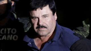 "Image copyright                  Reuters                  Image caption                                      Guzman was head of the notorious Sinaloa drugs cartel                                Mexico expects to extradite drug lord Joaquin ""El Chapo"" Guzman to the United States by February, the country's top security official says. But Guzman can"