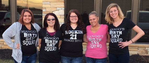 5 Custom Birthday Squad Shirts Adult