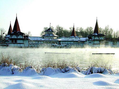 Lake Hévíz, winter photo