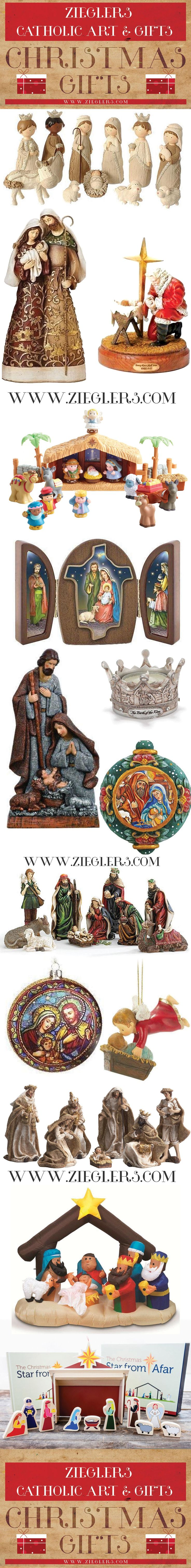 Looking for unique and holy Christmas gifts? We have Nativities, Images of the Holy Family, Kneeling Santa, the best Christmas religious Ornaments and so much more! Come see our amazing Catholic Christian gifts and helps remember Jesus is the reason for this Christmas Season! Open 24 hours! :) Zieglers.com