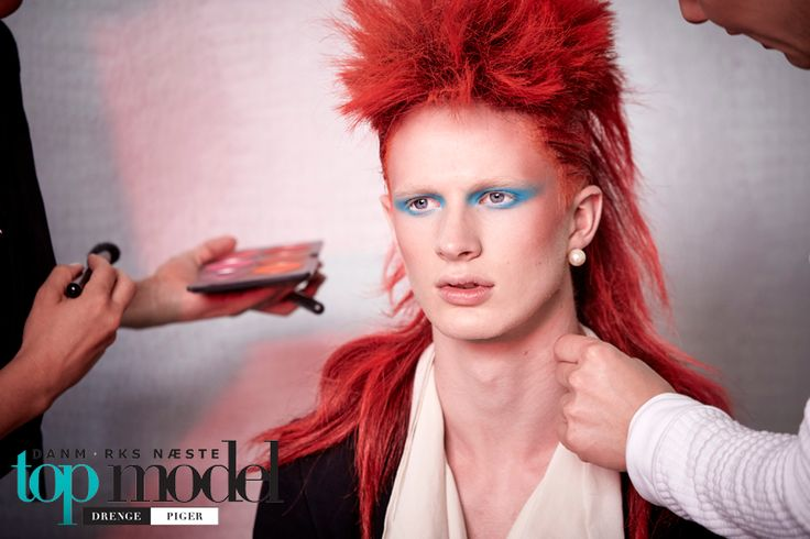 Make up David Bowie look. DNTM 2015