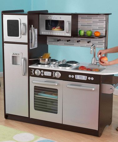 Take a look at this Uptown Espresso kitchen by KidKraft on #zulily today!