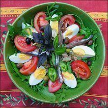 SALADE NIÇOISE, Recette Cuisine de Nice et du Comté de Nice