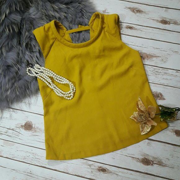 Zara Tops - Zara yellow women's top