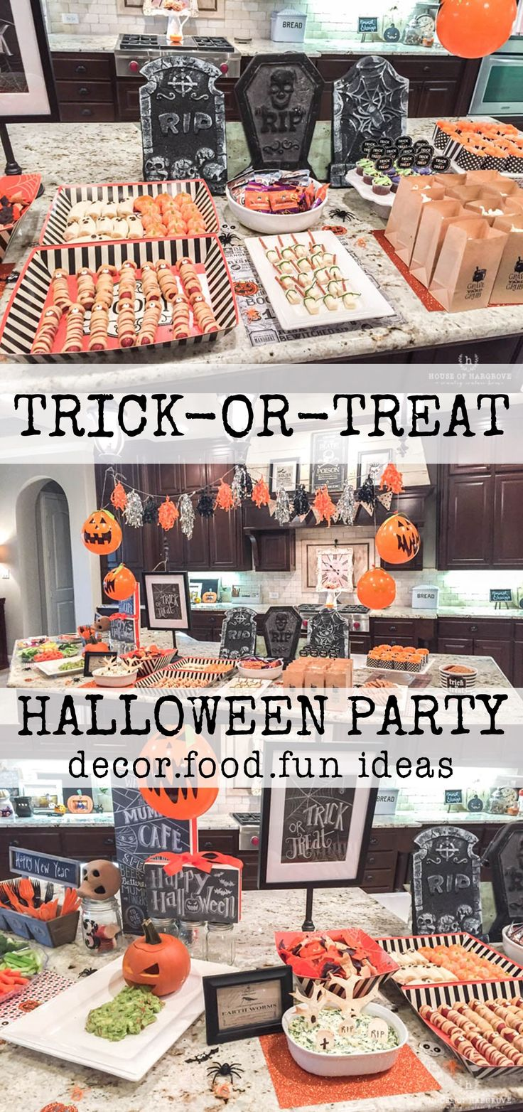 trick or treat halloween party decorating and food ideas halloween halloweenparty halloweenfood - Halloween Trick Ideas