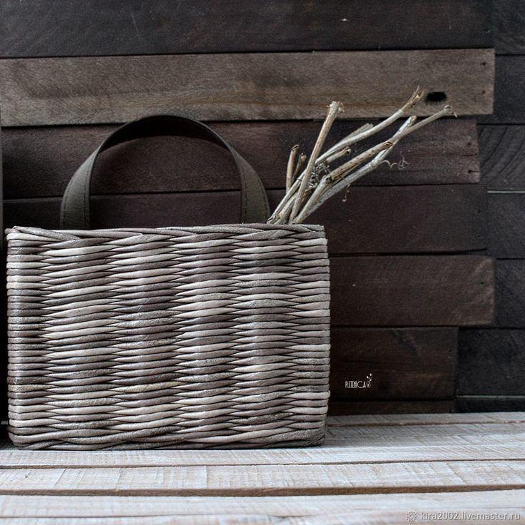 """Корзина плетеная для хранения """"Незабвенный Карий"""", коричневый цвет – купить в интернет-магазине на Ярмарке Мастеров с доставкой"""