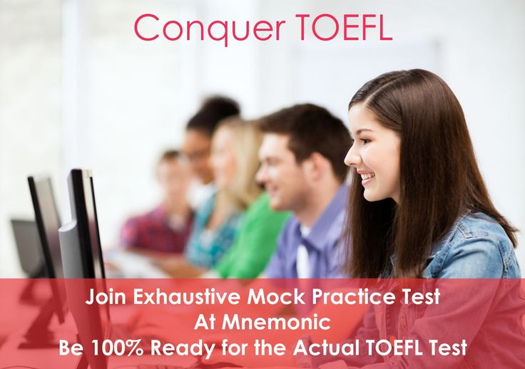 Find outstanding TOEFL Coaching classes in Delhi NCRs at Mnemonic Educated. Here 5000+ students have been able to score high and got admission to their first choice of university in abroad. This reputed institute is in the abroad education sector since more than seven years.