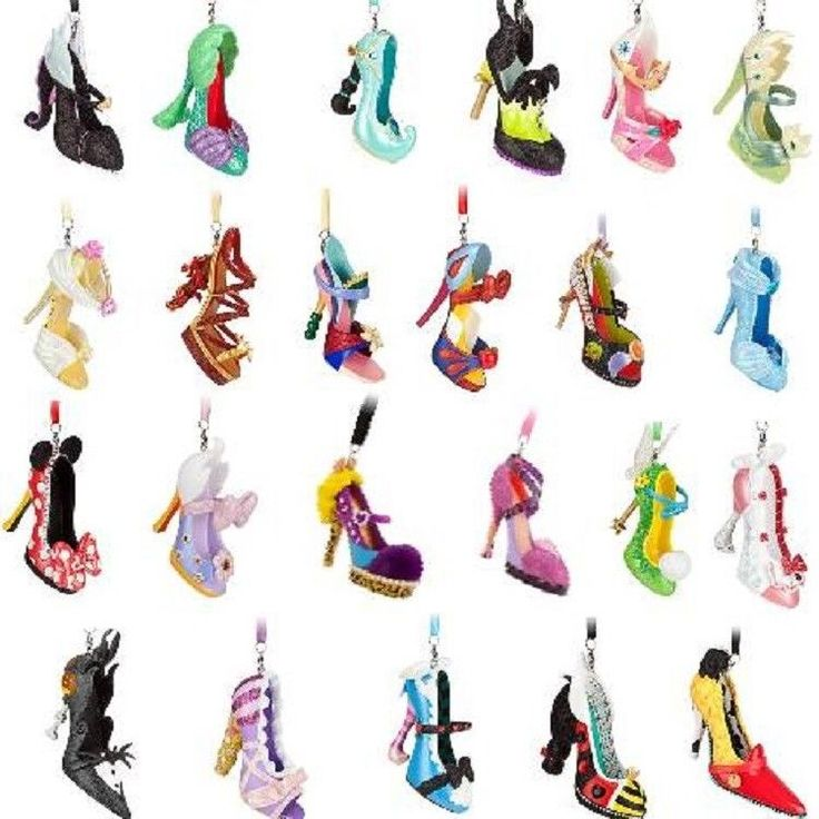 Disney Shoe Ornaments Figurines - I WILL own them all some day, but 2 will have to do it for now :(