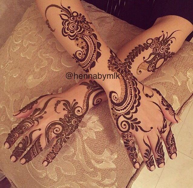 Henna design, Arabic. #khaleeji