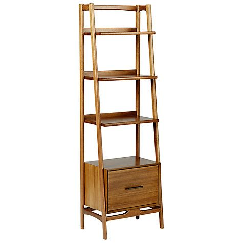 Buy west elm Mid-Century Narrow Bookshelf Online at johnlewis.com