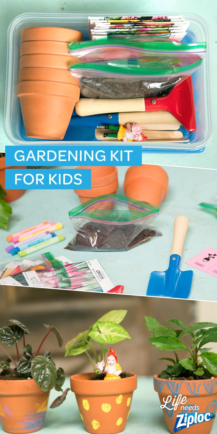 Such a cute idea for an outdoor playdate! Put together individual gardening kits and teach the kids about growing flowers and veggies. Pre-portion soil into Ziploc® snack bags to cut down on mess, and stock the kits with tiny pots, shovels, seeds, and little garden gnomes. Keep track of what you're growing by labeling pots with our free printable plant markers.