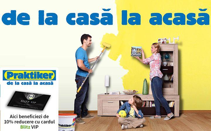 """Construiești sau renovezi? Amenajezi sau decorezi? În orice stadiu ai fi cu casa ta la Praktiker Romania găsești toate materialele necesare pentru a-ți duce planul la bun sfârșit și a-ți transforma casa în acasă.  Cu cardul beneficiezi de 10% discount la toate produsele exceptând articolele deja aflate în promoție.  Detalii pe www.blitz.ro/vip la categoria """"construcții și arhitectură"""". Fii practic și econom!"""