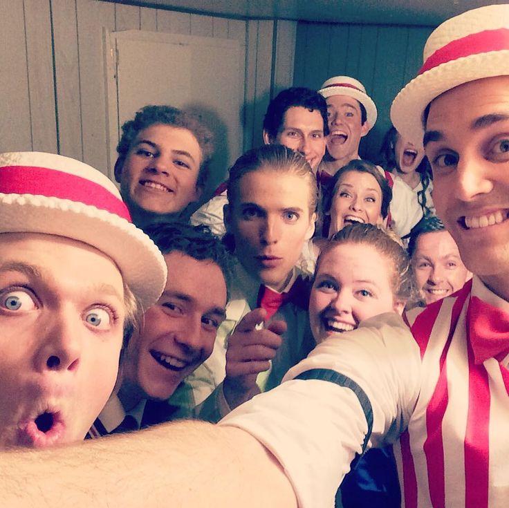 Backstage at Music Man for Briercrest Onstage! #backstage #tenorlife #quartet #barbershop #tenor #musicman #music #musical #musicaltheatre #icecream #lidarose #friends #itsyou #sheetmusic #briercrest #onstage #costume #candystripe #caronport #saskatchewan #moosejaw #show by bretteverettmitchell