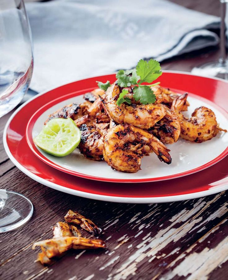 Barbecued Tamarind Prawns from Ben O'Donoghue's book Ben's BBQ Bible. Find it at cooked.com