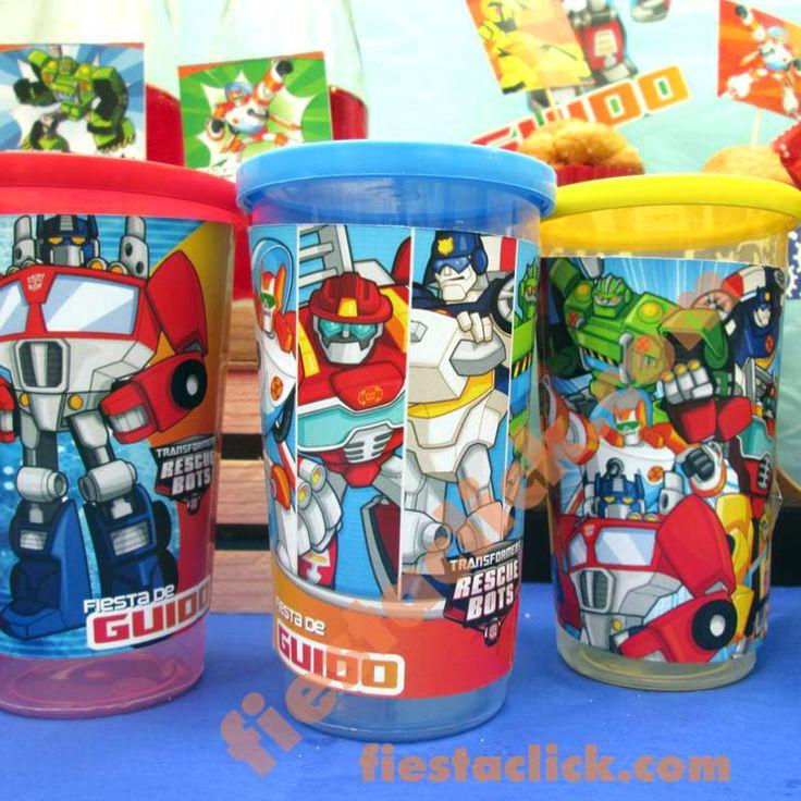 rescuebots vaso con tapa