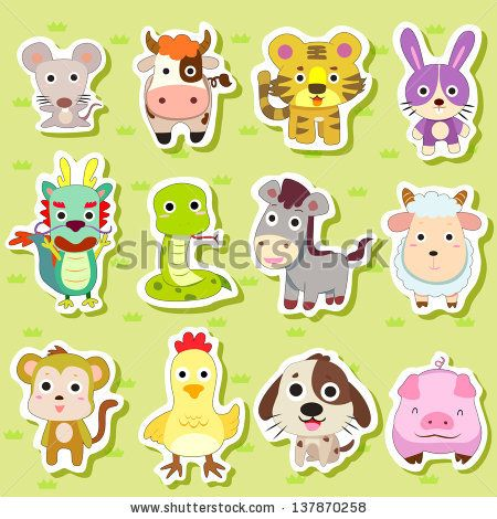 cartoon animal stickers in - photo #45