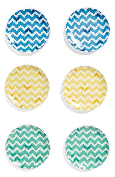SIGNATURE+HOUSEWARES+Zigzag+Plates+(Set+of+6)+available+at+#Nordstrom
