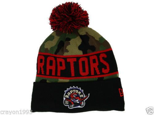 Official NBA Toronto Raptors NEW ERA Hardwood Classics Camo Knit Beanie HAT   eBay