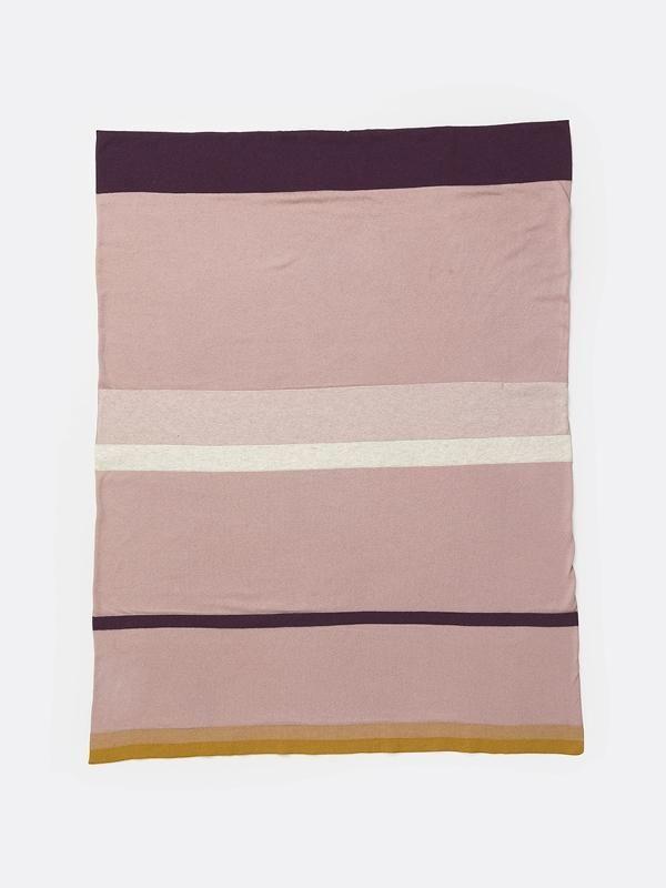 Little Stripy Blanket In Rose Design By Ferm Living