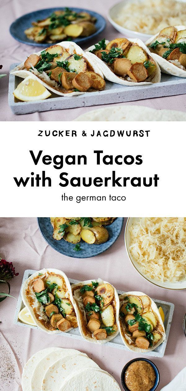 Vegan Sauerkraut Tacos With Sweet Mustard Dressing