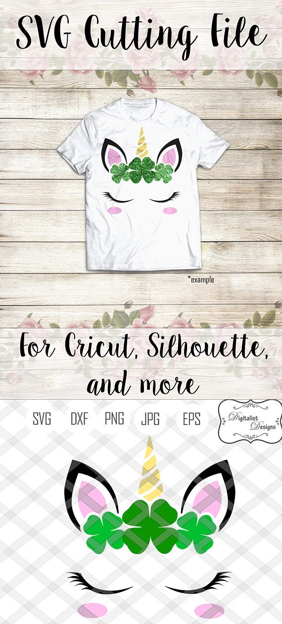 unicorn face svg unicorn svg st patricks svg st patricks