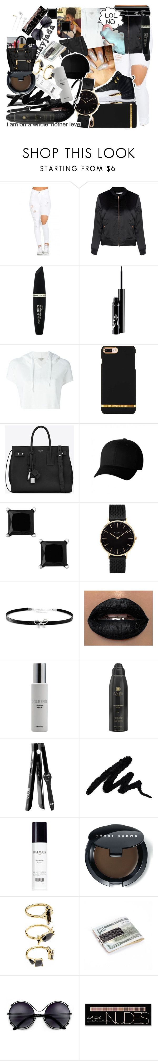 """""""Untitled #561"""" by dtx-jada ❤ liked on Polyvore featuring Glamorous, Max Factor, Calvin Klein Jeans, Yves Saint Laurent, Flexfit, CLUSE, Giani Bernini, Colbert MD, Soleil Toujours and Lorion"""