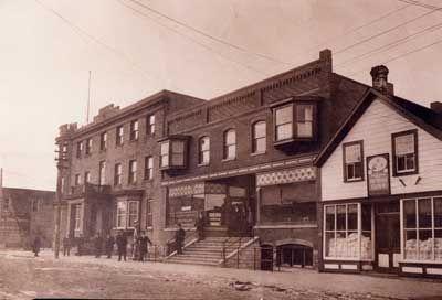 Heffernan House, and the Barrett Block, circa 1940