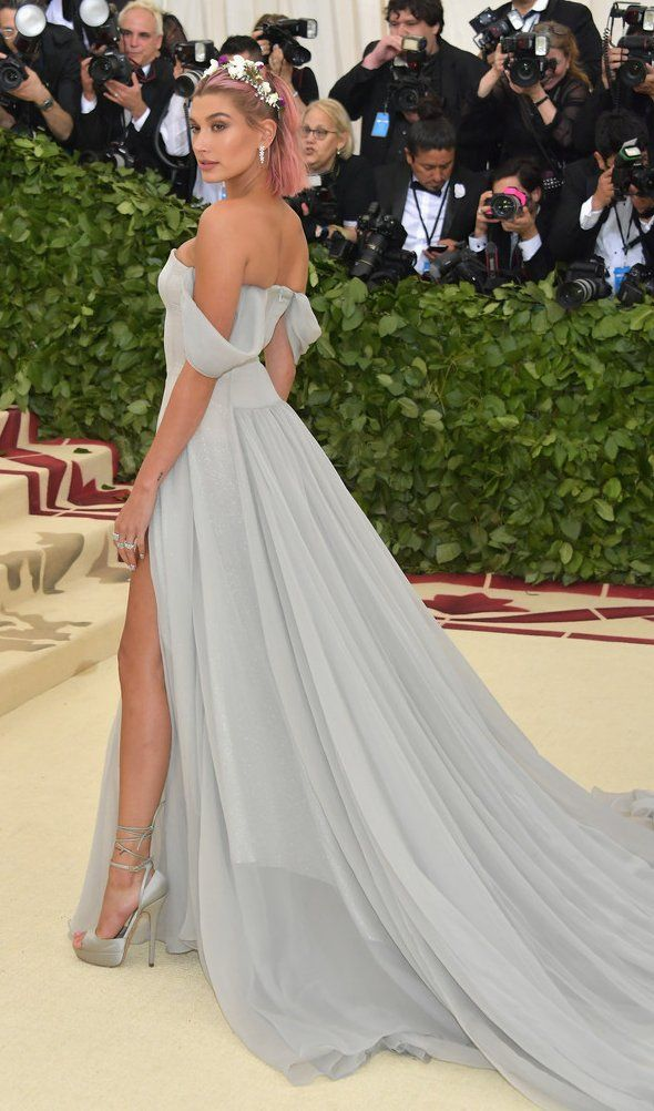 Hailey Baldwin In Tommy Hilfiger Attends The 2018 Met Gala Nyc Bestdressed