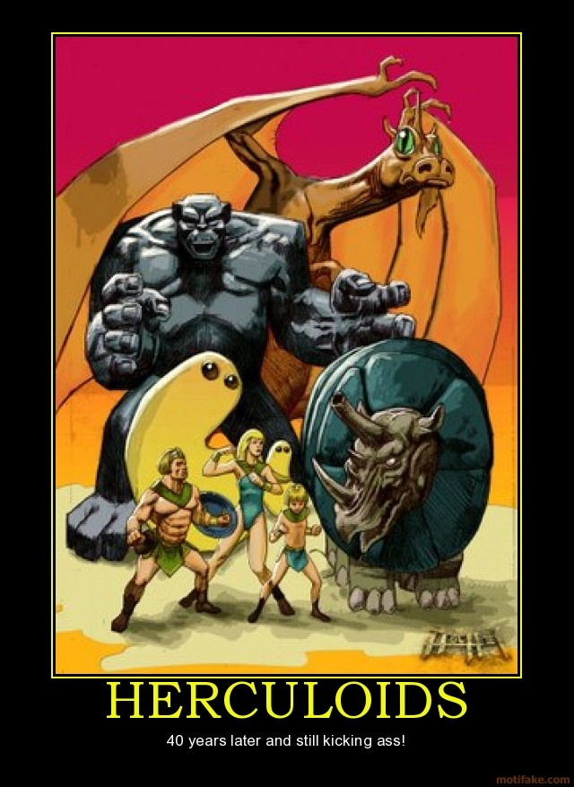 "H-B's ""The Herculoids""... yeah, I watched 'way too many cartoons when I was a kid... and yeah I have all the Herculoids episodes on DVD... what's your point?:-D"