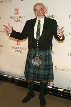 Sean Connery - Dressed to Kilt 2012. So many people do not know that he was one of the persons instrumental in getting the Coronation Stone returned to Scotland. He has and still works tirelessly to obtain Scottish Independence. Awesome man, Sir Sean. Love a man in a kilt, especially him.
