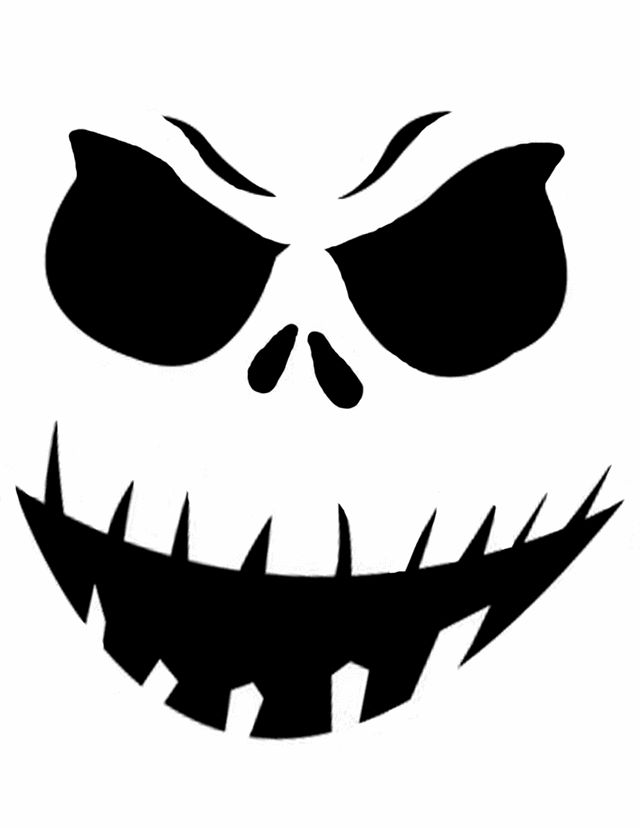 Pumpkin Face Stencil Template Printable | Home > Pumpkin Carving Templates > Super scary face