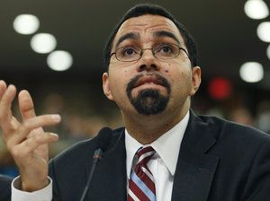 "John King Jr., acting education secretary, has called for restoring ""balance"" to school testing."