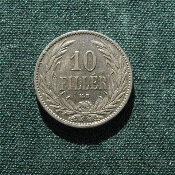 1894 Hungarian 10 Fillers Coin, 19th Century Coin, Antique Coin, Hungarian Coin, Antiques Collection, Coin for Numismatist, Collectors Coin