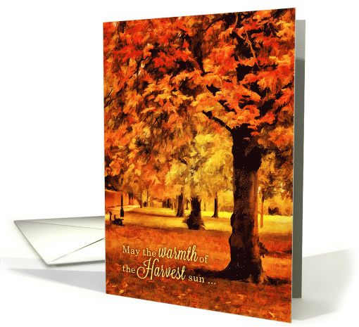 Harvest Season Blessings Autumn in the Park card (1149886) by Doreen Erhardt