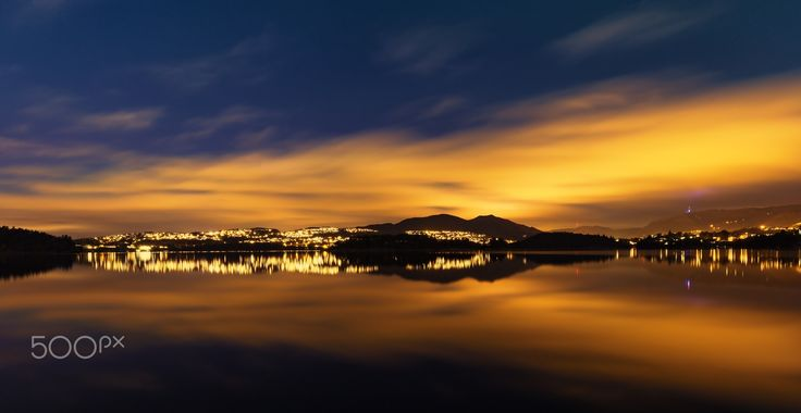 Cloudy Reflections - A cloudy night, and a calm lake provided for a nice long exposure photo. Hope you enjoy it :-)