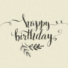 Happy Birthday Hand-drawn card. Vector illustration vector art illustration