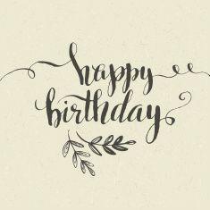 Happy Birthday Hand Drawn Card Vector Illustration Art