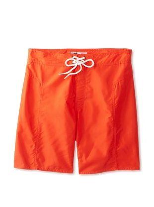 60% OFF TRUNKS Men's Salty Boardshorts (Orange Burst)