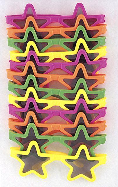 12 paia di occhiali da sole a forma di stella per bambini