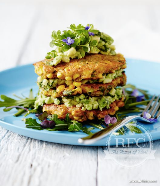 Corn fritters,made with chickpea flour and filled with a beautiful salsa....this one is a winner.Loved creating this recipe. chefcynthialouise.com therealfoodchef.com chef cynthia louise FB