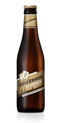 Cerveja Triple D'anvers, estilo Belgian Tripel, produzida por De Koninck, Bélgica. 8% ABV de álcool.