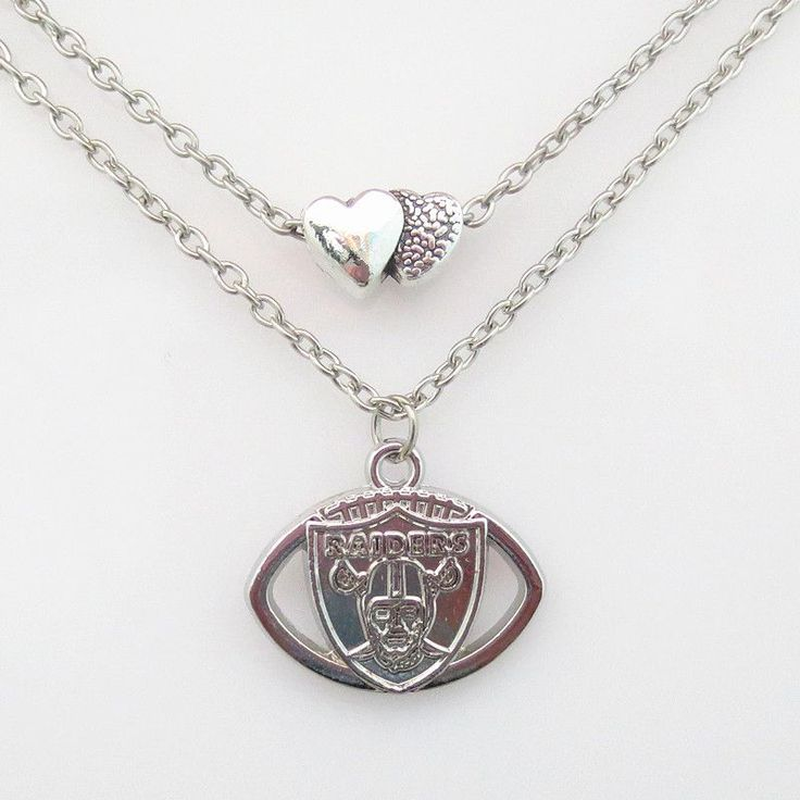 NFL Oakland Raiders Football Team Necklace